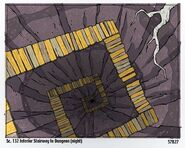 Sc. 132 Interior Stairway to Dungeon (Night)