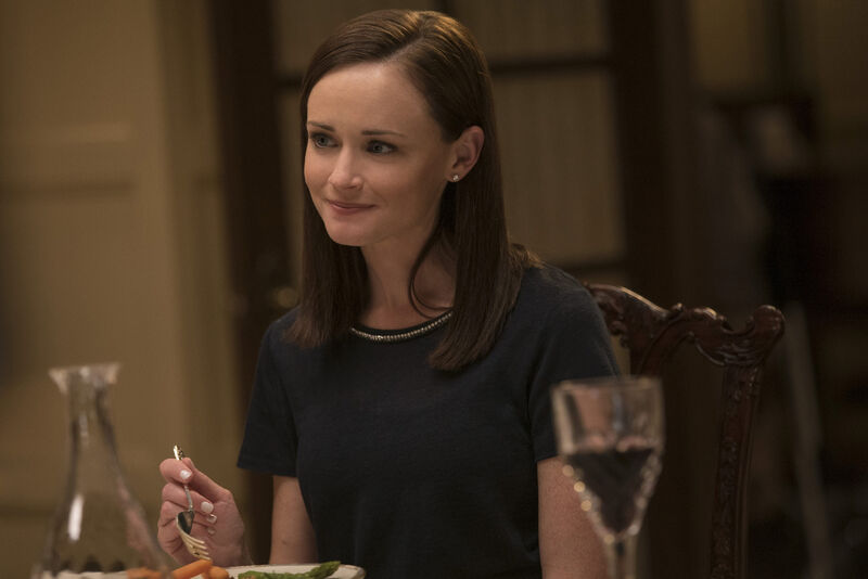 Gilmore Girls a year in the life Rory at dinner