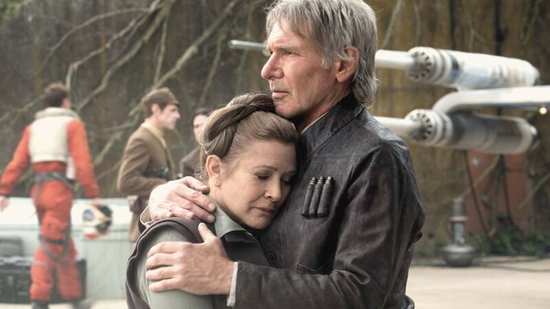 Han Solo and Leia Organa in The Force Awakens