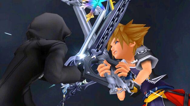 Sora battles Roxas in Kingdom Hearts 2