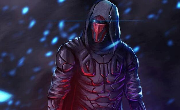sith-lords-star-wars-darth revan menacing look with shining eye