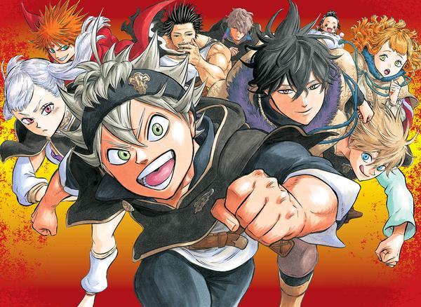 black clover shonen anime characters running