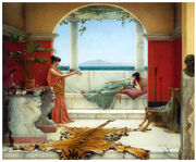 Pict p-Godward The Sweet Siesta Of A Summer Day