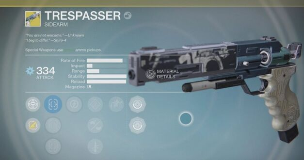 Trespasser Exotic new weapon from Destiny Rise of Iron