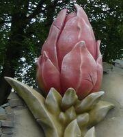 Traumflug Blume an Fassade 2
