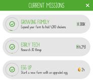 Mission sheet