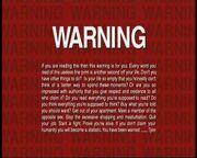 Fight Club Warning