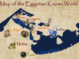 Ancient Egyptian World Map