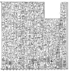 Great Karnak inscription (first part) - plate 52 from Mariette Bey