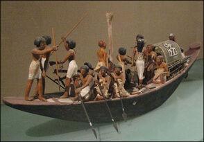 Egyptian model boat (Amenemhet I)
