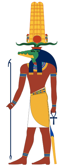Sobek, God of Nile products and Fertility, Patron of the Army and Military