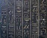 Egyptian hieroglyphs Black Schist sarcophagus Ankhnesneferibre