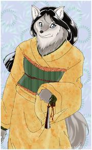 03Maruke Female in Kimono