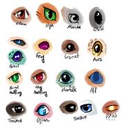 Racial eye assortment