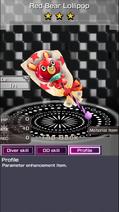 9005 Red Bear Lollipop