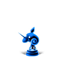 0155 Blue Chess Piece