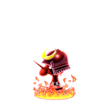 0194 Flame Chess Piece