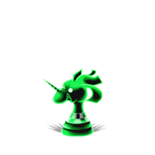 0156 Green Chess Piece