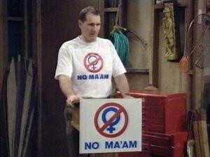 NO MA'AM – Al spricht