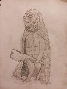 Hyenakles in cloak, by DoctorMcTaalik