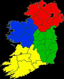 Ireland location provinces