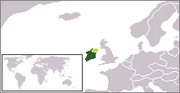 Location Irish Free State in dark green and claimed Territory in light green