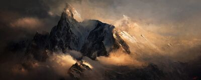 Morning sun over mountains by crahzz-d30m007-992x396