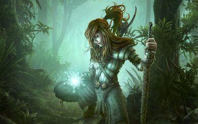 Fantasy-Girl-With-Magic-Light