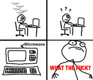 Typing on the microwave