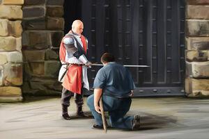 Perkin der Floh Ritterschlag Gossenritter Manreart