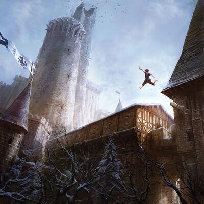 Bran Winterfell zerbrochener Turm Marc Simonetti Bantam Kalender2013