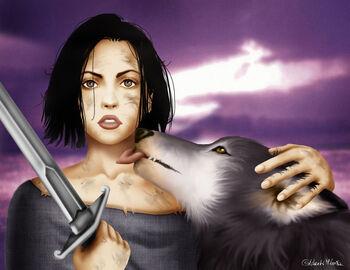 Arya Stark Nymeria M Luisa Giliberti
