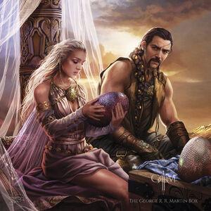 Daenerys Drogo Dracheneier Magali Villeneuve Bantam Kalender2016