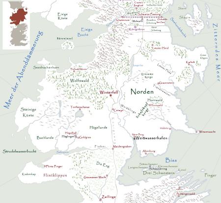 Got Karte Deutsch.Norden Das Lied Von Eis Und Feuer Wiki Fandom Powered By