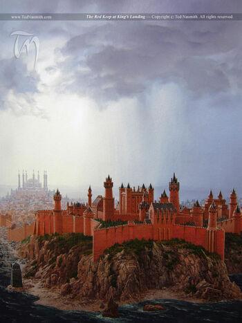 Roter Bergfried Königsmund Ted Nasmith