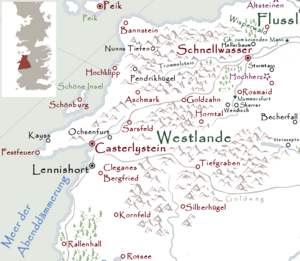 Westlande Karte