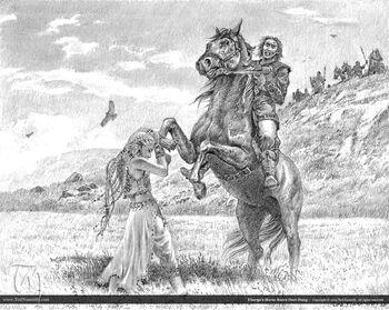 Viserys Daenerys Pferd Ted Nasmith