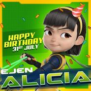 Happy birthday Alicia (2018)