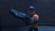 Zain holding his Pistol