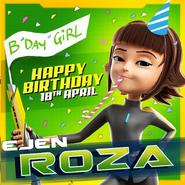 Happy birthday Roza