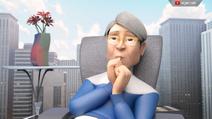 Dr. Tong eating his own thumb