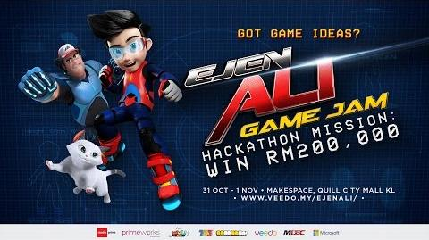 Ejen Ali Game Jam - Hackaton Mission-The full version of the infomercial about the event