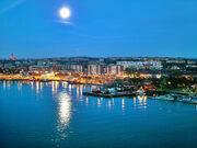 Göteborg in moon light