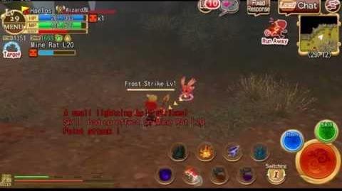Wizard Speed Tank skill demonstration Elemental Knights Online the WORLD
