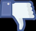 Not facebook dislike thumbs down