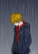 Jonathan in the rain