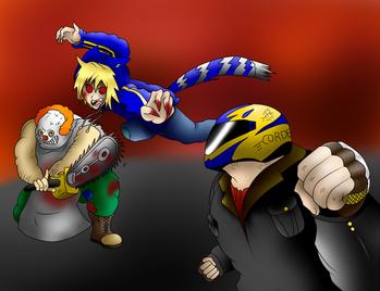 Jonathan vs El chico del casco y el Payaso