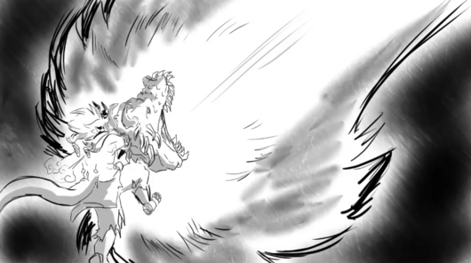 Dragon flames