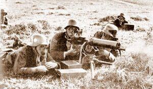 Soldados antigás argentinos