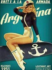 Cartel de reclutamiento de la Armada Argentina